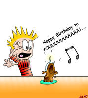 Calvin and the Birthday Cake by NatPal