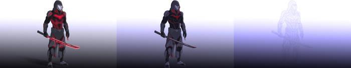 Nighthood Concept Art: Combat, Default, Stealth. by Amalgamation100