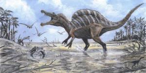 Spinosaurus by tuomaskoivurinne