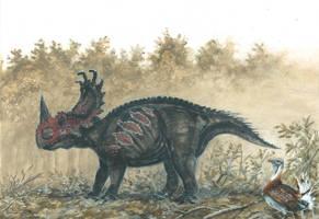 Horns04: Sinoceratops by tuomaskoivurinne