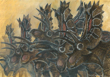 Horns11: Pentaceratops by tuomaskoivurinne