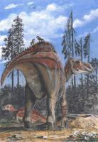 Maiasaura peeblesorum by tuomaskoivurinne