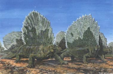 Edaphosaurus cruciger by tuomaskoivurinne