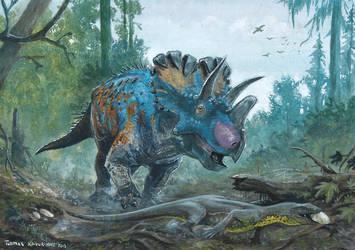 Horns34: Wendiceratops by tuomaskoivurinne