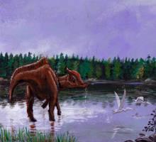 Saurolophus osborni by tuomaskoivurinne