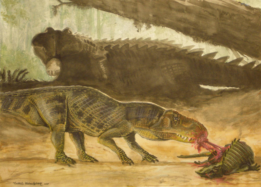 Triassic Lunch by tuomaskoivurinne