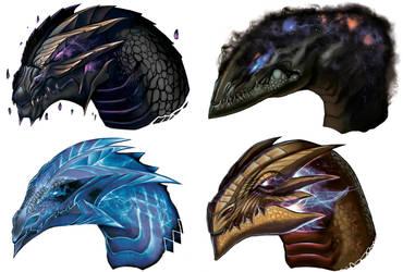 Stellar Dragons by Jelux09