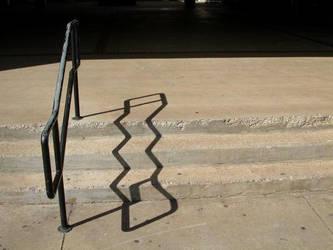 Railing Shadow by thousand