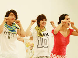 Donghae,Kyuhyun and some girl. by Kalin-Kelsser