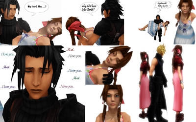 Zack and Aerith by LittleEvilPikachu