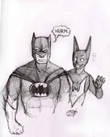 Batman and Batman by mitch-the-plaid
