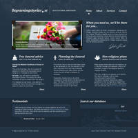 Undertakers Website Layout by Neochron