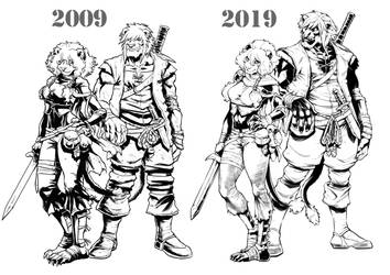 10YearsChallenge by RoughYo