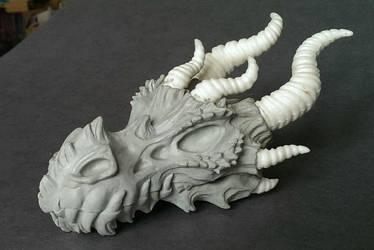 Dragon skull WIP. by Bakenekoya