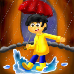 Rain by cutecolorful