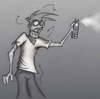 Zombies hate Flies by rothmir