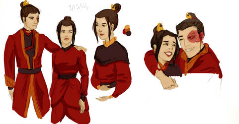 Fire Sibling sketches by jurodo