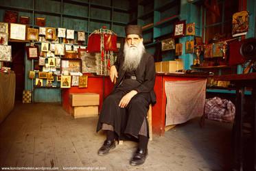 Mount Athos Portrait by Konstantinekein