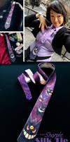 Silk Tie: Ghastly, Haunter, Gengar and Mega Gengar by Achiru-et-al