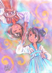 Rwen and Saki in Bunny Hanfu by Achiru-et-al