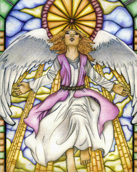 Stain Glass Angel-Colored by master-penguin