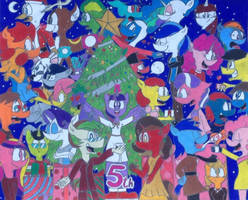 Merry Christmaversary to MLP! by PRJC1116