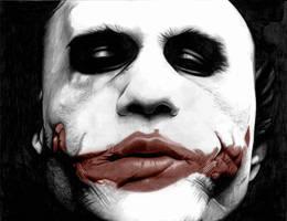 Heath Ledger Joker by donchild