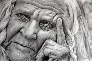Elderly Woman by donchild