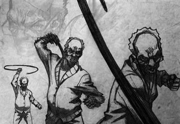 The Boondocks Wallpaper - Robert Freeman BnW by Razpootin