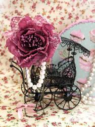 Lovely Rose Brooch by Cupcake--Princess
