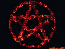 Lava Pentagram by Telliria