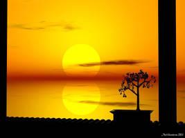 Sunset Bonsai by Telliria