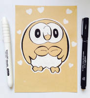 Rowlet Sketch by TruiArts
