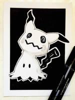 Mimikyu Sketch #5 by TruiArts