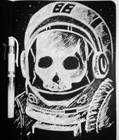 Astronaut Skull by TruiArts