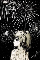 Under the Fireworks (New Year Celebration!)  by TruiArts