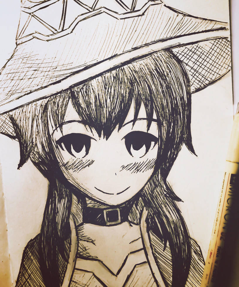 Megumin Sketch by TruiArts