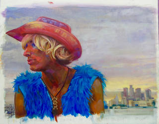 Portrait of an Urban Cowboy by cyndavalle