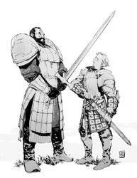 Mountain VS Brienne by Smolb
