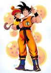 Goku and Son by Smolb