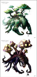 Overgrown Colossus Concept Art by arvalis