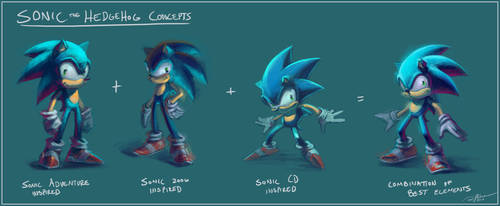 Sonic Concept Sketches by arvalis