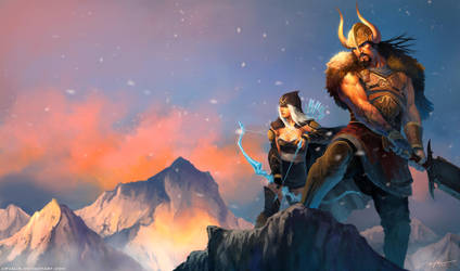 -Tryndamere and Ashe- by arvalis