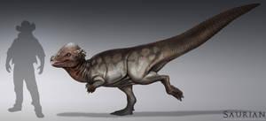 Saurian-Pachycephalosaurus by arvalis