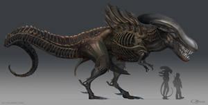 Alien T. rex by arvalis