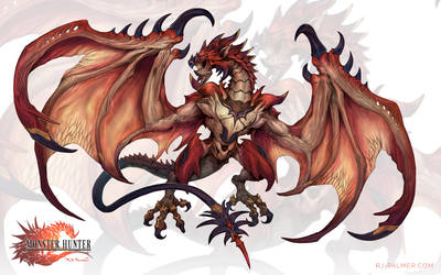 Final Fantasy-Rathalos by arvalis