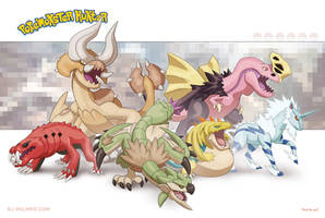 Poke'monster Hunter Group 2 by arvalis