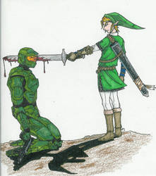 Link vs. The Chief by arvalis