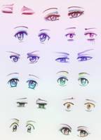 Anime Eyes Study by Tajii-chan