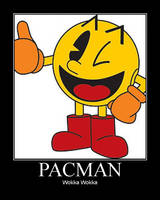 Pacman Motivational Poster by Yagoshi